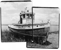 Anna, Pilot Boar, Cape Vincent, NY, B&W print, Fine Art Photography, Richard Margolis, Silver Gelatin Print, Dream Boat